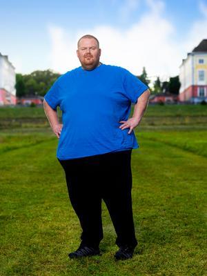 Michael Willysson vägde in sig som den tyngste deltagaren någonsin i Biggest Loser Sverige. Pressbild: Daniel Ohlsson/TV4.