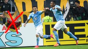 Det blir inte spel i allsvenskan med ÖFK för Felipe Carvalho (th). Bild: Fredrik Sandberg/TT (montage).