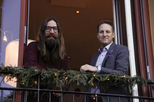Viktor Zeidner och Mikael Ericsson, hotelldirektör på Grand, smider planer inför årets Local Heroes.