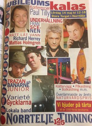 Stark artistuppställning inför kalaset 2005.