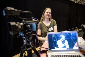 Tina Vesterlund från YNK Produktion var på plats för att berätta om sitt jobb med livesändningar.