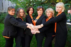 Förskoleupprorets ledningsgrupp – Annette Nord, Katrin Nörthen, Anki Jansson, Annica Järking, Monica Lindström och Diana Hall.