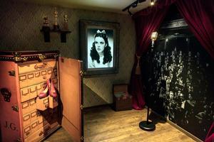 Judy Garlands två koffertar, en för skor och en för LP-skivor, ingår i Magnus och Johanna Malms samling. Foto: Rickard Moneus