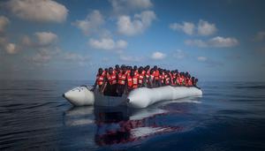 Murshi Ali Adallah såg sin bästa vän drunkna på båten över Medelhavet. Foto: Santi Palacios/TT