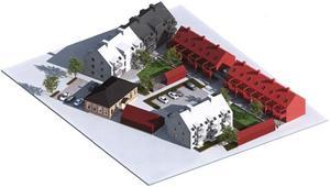 Skiss över hur det troligen kommer att se ut i kvarteret Gropgården i framtiden.