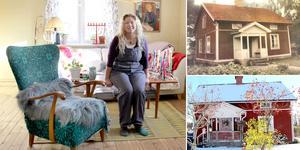 Läsfåtöljen i vardagsrummet är från utbildningstiden i Umeå. Susann Nettelbladt bor i ett av de äldsta husen i Valbo centrum.