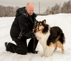 """Collien Pixie var Mats """"Matte"""" Löövs sista hund. Henne gav han bort till en granne på gatan som började träna agility med Pixie. """"Hon hade bara ögon för Jennifer till slut och viftade inte ens på svansen åt mig längre"""".  Foto: Annika Persson"""