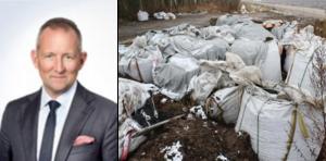 Konkursförvaltaren Robert Asplund på Advokatbyrån Lindahl säger att han har en nära kontakt med miljökontoret för att se vad som ska hända med den svarta massan efter entreprenadföretagets konkurs. Foto: Privat. NA Arkiv: Jan Wijk