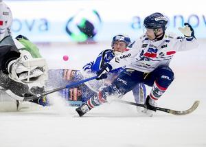 Daniel Välitalos sista slutspel, här under semifinalen mot Villa Lidköping där Edsbyn vände 0–2 i matcher till 3–2.