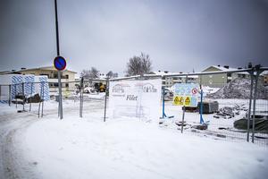 Så här såg det ut i vintras, när nya Fölets förskola började byggas.