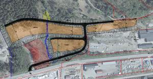 Skissen visar hur kommunen vill att området ska se ut.