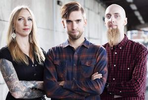 Syskonpunkarna i Avtonat: Maria Eriksson, Jimmy Eriksson och John Eriksson. Foto:  Rickard Åstedt / Pressbild.