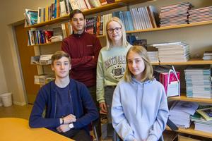 Daniel Falakeh, Maja Johansson, Jakob Kronmann och Signe Nilsson ska för första gången få rösta i Europaparlamentsvalet