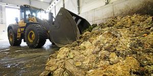 Rötgasanläggning där kompost används för framställning av biogas.