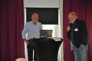 Åke Nilsson och Ulf Wahlström besökte PRO i Nynäshamn. Foto: Johnny Jansson