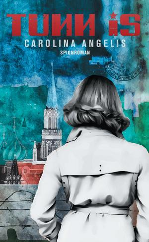 """Omslaget till """"Tunn is"""", med huvudpersonen Jackie  Philipsson i klassisk trenchcoat."""