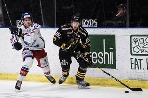 Skulle Modo lyckas vinna slutspelsserien ställs laget mot förloraren i den hockeyallsvenskan finalen, antingen AIK eller Oskarshamn. Bild: Erik Simander/TT