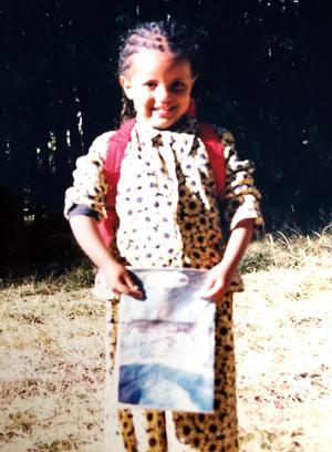 En liten Mimmi i sitt gamla hemland Etiopien.