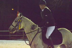 GPK:s Ronja Frans med sin Frosty Rebel vann Lätt A kategori C 100 cm.