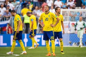 Ola Toivonen deppar efter ett insläppt mål mot England. Bild: Joel Marklund/Bildbyrån.