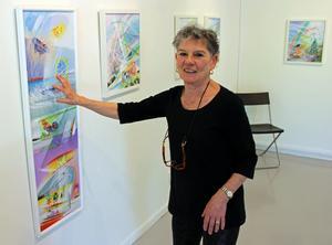 Georgianna Kralli visar sin nya utställning