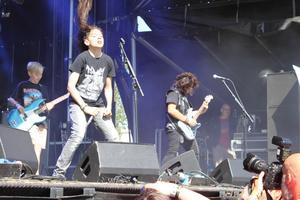 Three Dead Fingers på Sweden Rock. Bild: Sara Hernandez