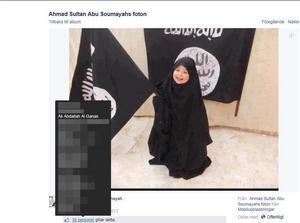 Svärsonen, som arbetade på Vetenskapsskolan, har även gillat många bilder med IS-propaganda. Just den här bilden är uppladdad av Ahmad Qadan, som dömdes för terrorbrott och poserat på flera bilder med Abdel Nasser ElNadi och Abo Raad.
