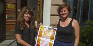 Erica Hedin och Frida Sund från Hudik mot rasism som för fjärde året i rad arrangerar Sommarfest.