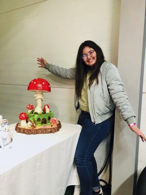 Mina Hallqvist kammade hem första platsen på Skandinaviens största tårtutställning.