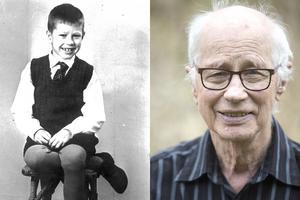 Lennart, åtta år,  och idag, 83 år och författardebutant.