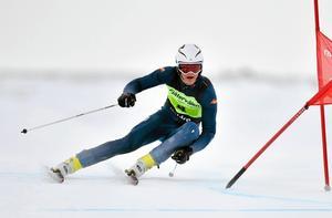 Avesta AK:s Johan Hagberg kom på fjärde plats i Super G i junior-VM i Davos.