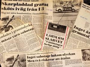Många artiklar. NA skrev mycket om granatolyckan 1978. Något personligt ansvar utkrävdes dock aldrig. En säkerhetskontrollant och ett gruppbefäl friades från åtal.