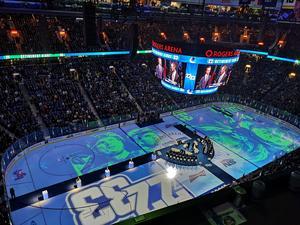 Sedinarna hyllas i Rogers Arena onsdag kväll, lokal tid.