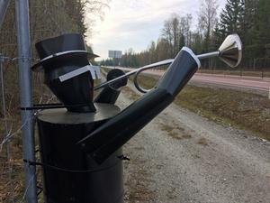 Plåttrumpetaren invid riksväg 66 kan beskådas i någon vecka till innan de plockas ner av Svevia.