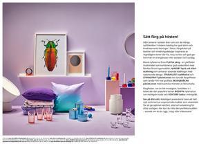 Många av textilierna och inredningsdetaljerna är inspirerade av regnbågens färger som lila, rosa och turkos.