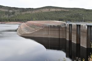 Lågt vatten i Trängslet den 15 september 2018.