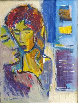 Akrylmåleri av Esa Toivonen.