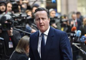 Storbritanniens David Cameron som just nu kampanjar för att landet ska stanna kvar i EU.