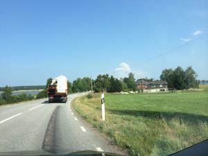 Synts på väg 252 påväg mot Surahammar från Hallstahammar / Emelie G
