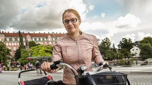 Beli Biljana Tomic tycker att Örebro är en bra cykelstad.