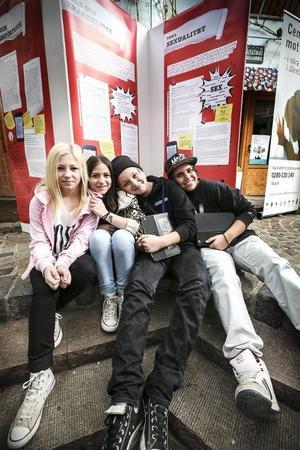 Sjätteklassarna  Julia Domander, Sara Khalaf, Felix Ottosson och Ludwig Owen Åberg ser fram emot temaveckan.