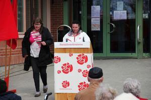 Stina Michelsson är socialdemokraternas förstanamn till kommunfullmäktige i årets val. På första maj talade hon om framtiden ur sitt