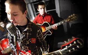 Viktor Vikstron, sång och gitarr och Andreas Östlund, förstesångare som gett namn åt bandet. FOTO: BONS NISSE ANDERSSON