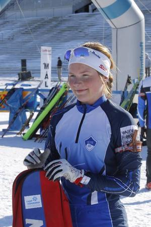 Sofia Myhr, Hede, är en 18-årig jättetalang som vann en av juniorklasserna före en amerikanska.