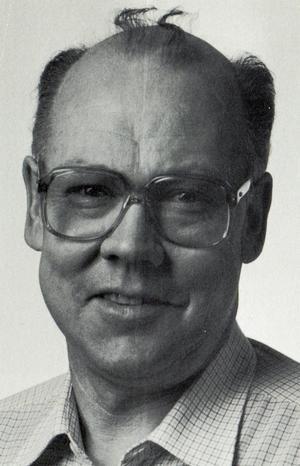 Bo Lindberg från sin tid som faktor på Falu-Kuriren. Bilden hämtad ur boken