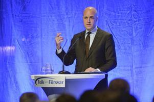 Statsminister Fredrik Reinfeldt öppningstalade vid Folk och försvars rikskonferens på högfjällshotellet i Sälen.