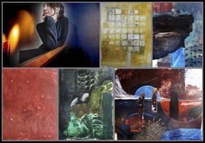 Emma Bjurströms verk är ett måleriskt forskande i skapandeprocessen.