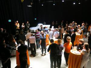 På onsdagen visade Mälardalens högskola upp sin solcellsbil vid ett event i Eskilstuna.