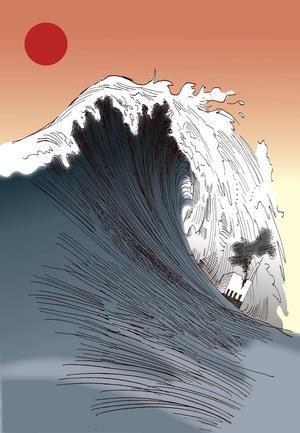En jordbävning i havet utanför Japan 2011 orsakade en kraftig tsunami. Många människor omkom och kärnkraftverket i Fukushima drabbades av en härdsmälta.
