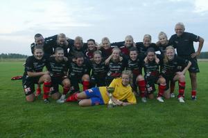 Team Hudik jublade efter DM-finalen för juniorer.